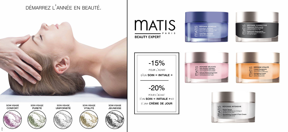 offre soin visage initiale + creme matis