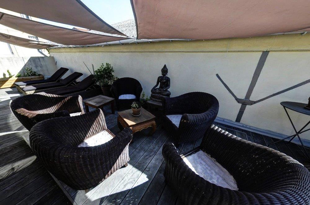 un bain de soleil sur notre terrasse
