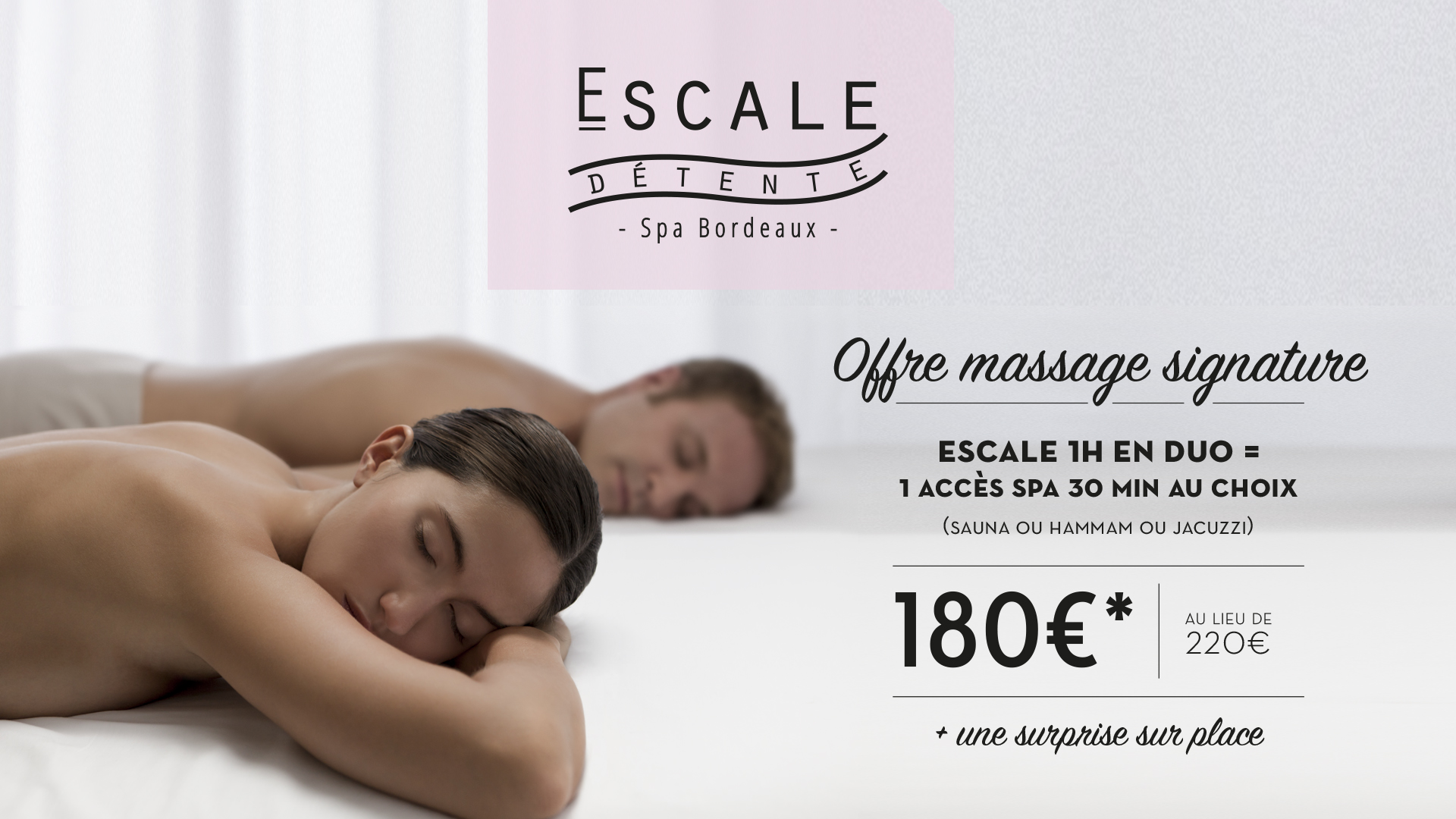 Massage en duo pour la Saint Valentin à Bordeaux