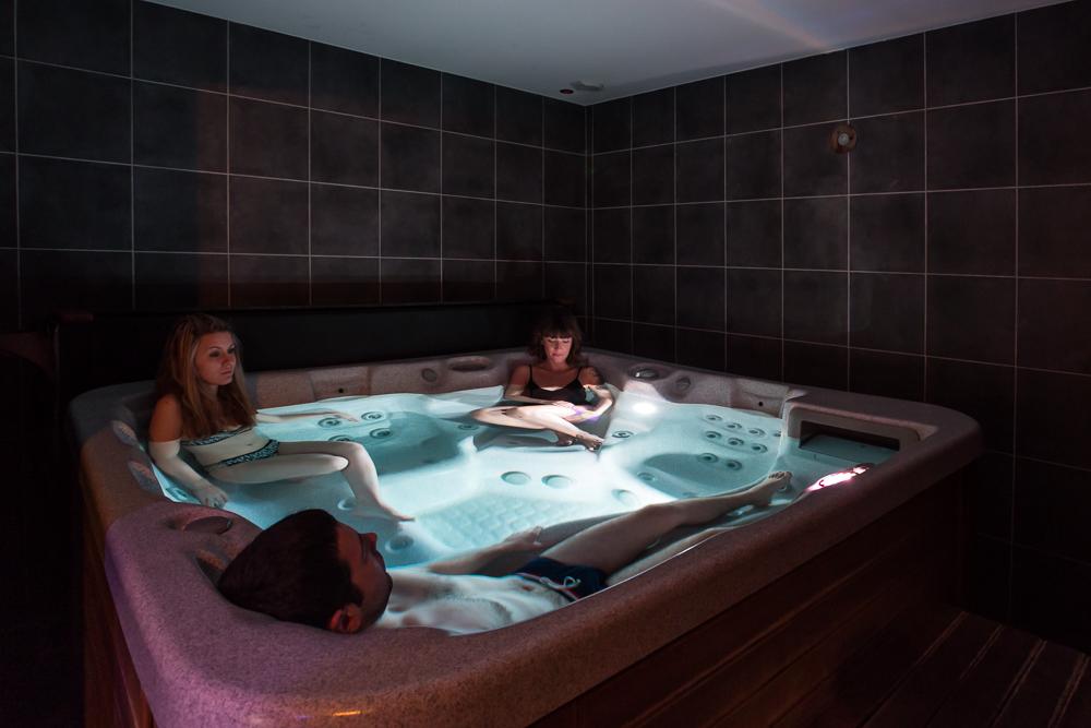 un bain de bulles